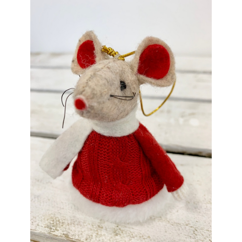 Woollen Mouse in Knitted Jumper