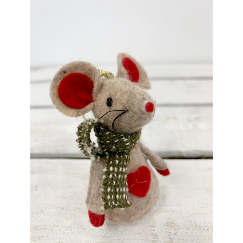 Hanging Mouse with Scarf