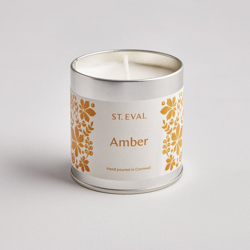 St Eval Amber Scented Tin Candle