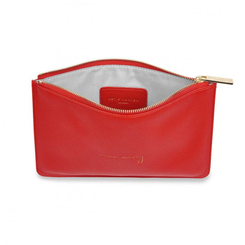 Katie Loxton Perfect Pouch 'So Very Merry' Red
