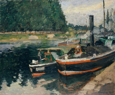 Camille Pissarro 'Barges at Pontoise'