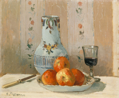 Camille Pissarro 'Still Life with Apples and Pitcher'