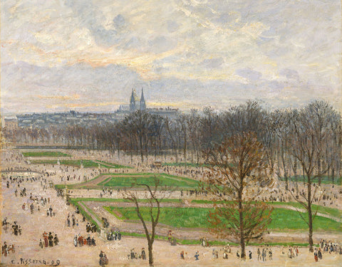 Camille Pissarro 'The Garden of the Tuileries on a Winter Afternoon II'