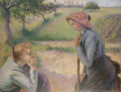 Camille Pissarro 'Two Young Peasant Women'