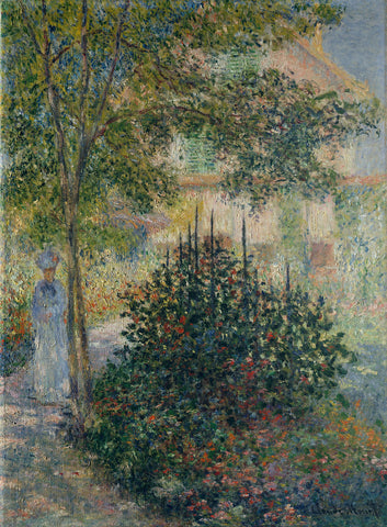 Claude Monet 'Camille Monet in the Garden at Argenteuil'