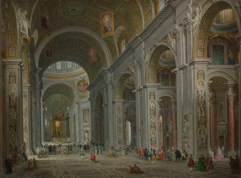 Giovanni Paolo Panini 'Interior of Saint Peter's, Rome'