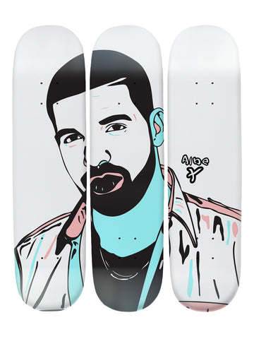 Albe Cross II 'Skateboard x 3 Combo Wall Art'