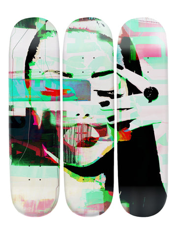 Carlo Couture 'Skateboard x 3 Combo Wall Art'