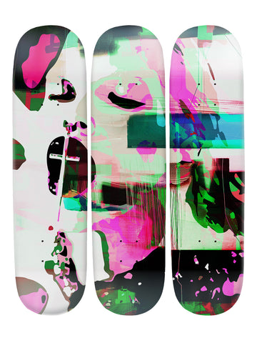 Carlo Couture II 'Skateboard x 3 Combo Wall Art'