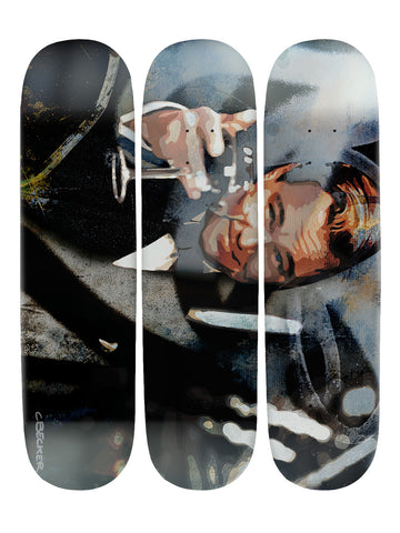 Christopher Becker 'Skateboard x 3 Combo Wall Art'