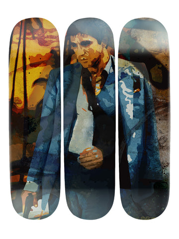 Christopher Becker II 'Skateboard x 3 Combo Wall Art'