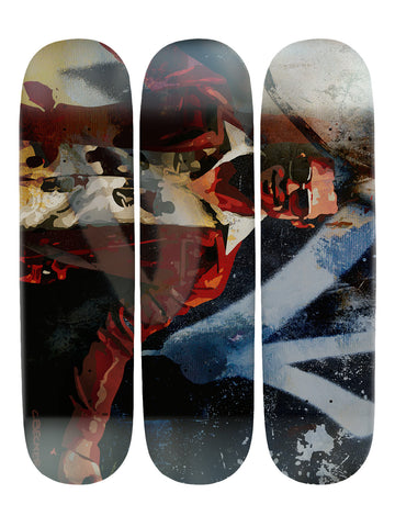 Christopher Becker III 'Skateboard x 3 Combo Wall Art'