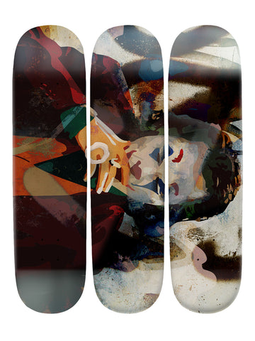 Christopher Becker IV 'Skateboard x 3 Combo Wall Art'