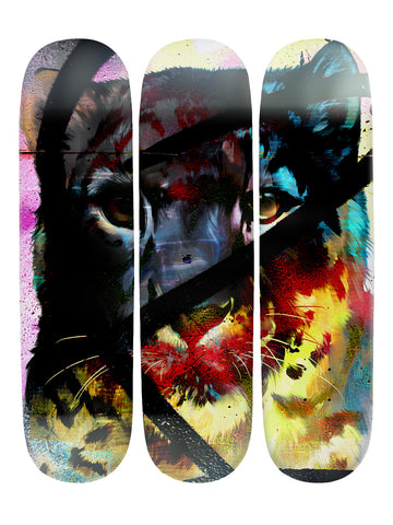 Eddie Howard III 'Skateboard x 3 Combo Wall Art'