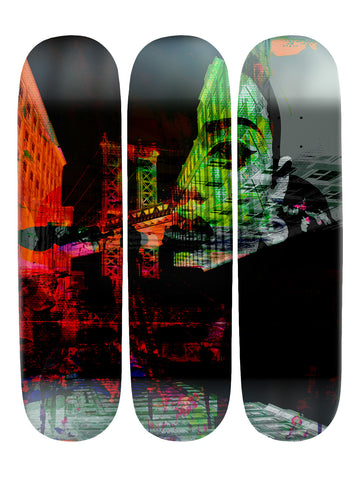Fernando Rique 'Skateboard x 3 Combo Wall Art'