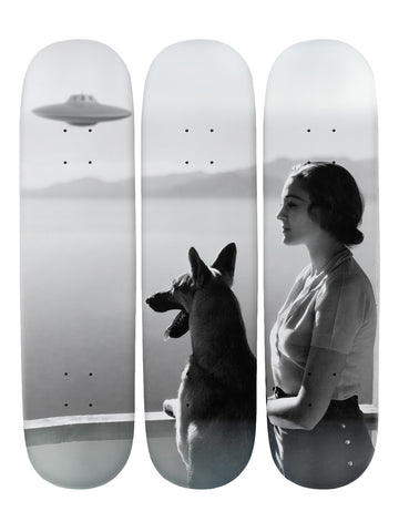 Georgina Fallows 'Skateboard x 3 Combo Wall Art'