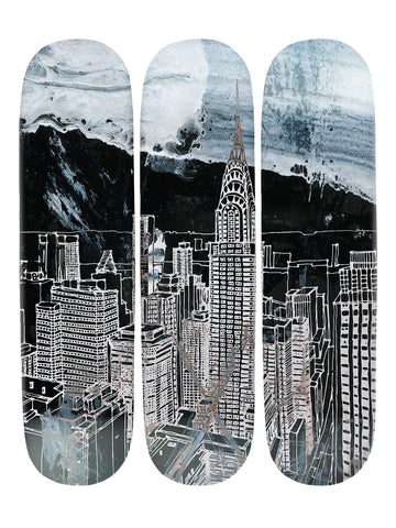 Harry Croft 'Skateboard x 3 Combo Wall Art'