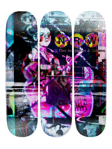 Hunter Sampson II 'Skateboard x 3 Combo Wall Art'