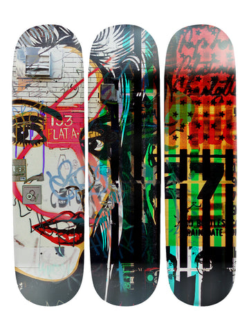 Hunter Sampson III 'Skateboard x 3 Combo Wall Art'