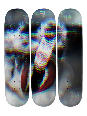 Mike Pollock 'Skateboard x 3 Combo Wall Art'