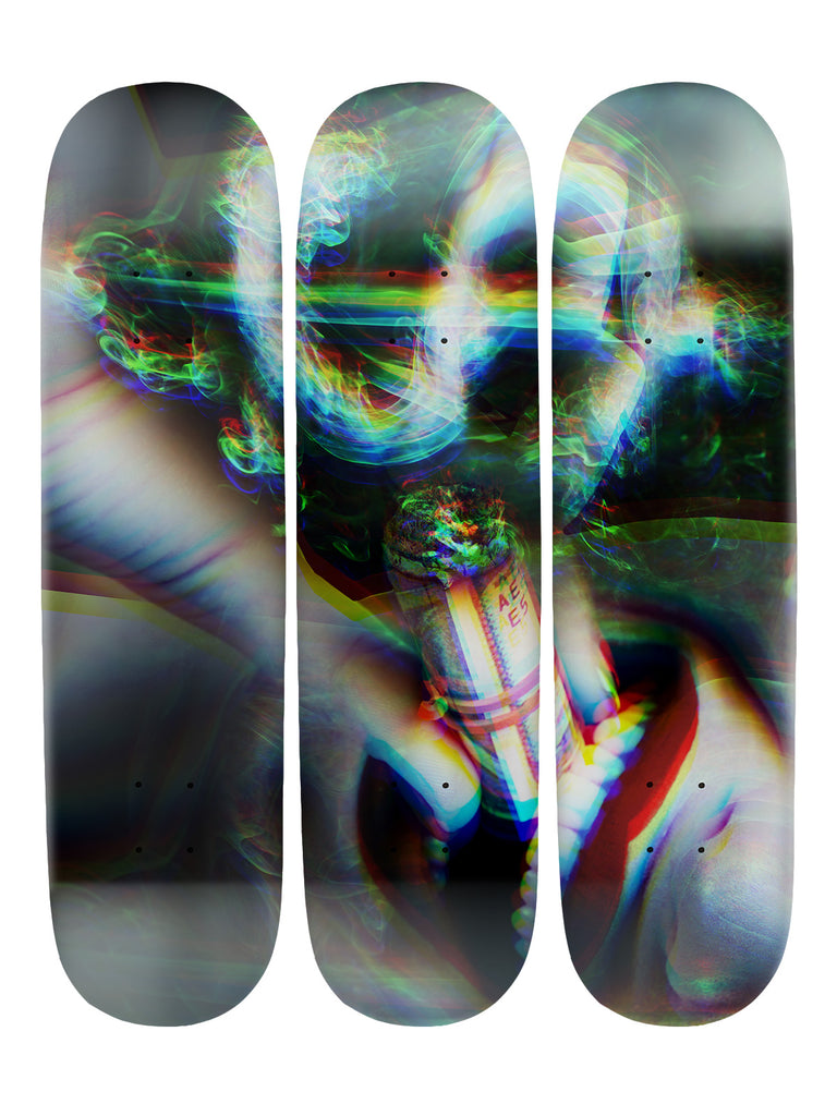 Mike Pollock II 'Skateboard x 3 Combo Wall Art'