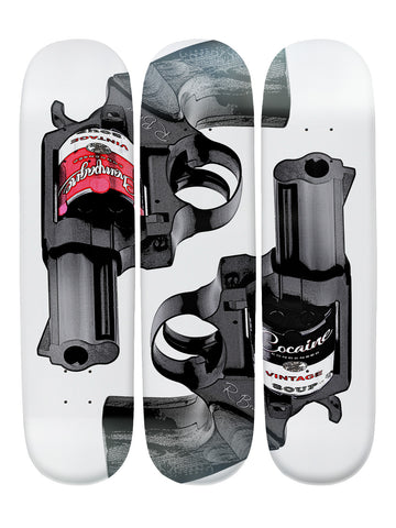 Ryan Braser 'Skateboard x 3 Combo Wall Art'
