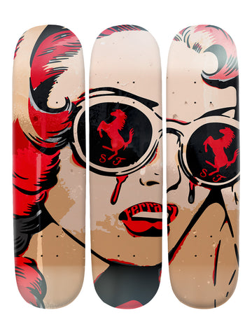 Sandra Ford II 'Skateboard x 3 Combo Wall Art'