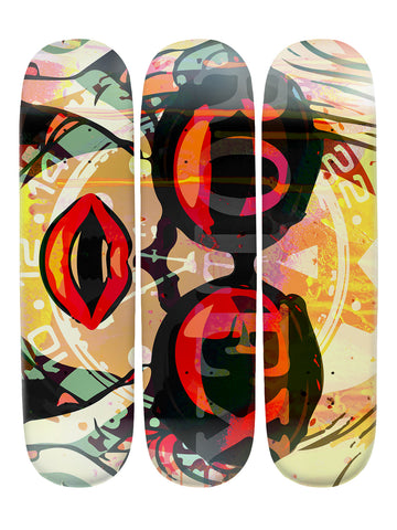 Sandra Ford III 'Skateboard x 3 Combo Wall Art'