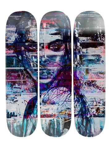 Taylor Andrews III 'Skateboard x 3 Combo Wall Art'
