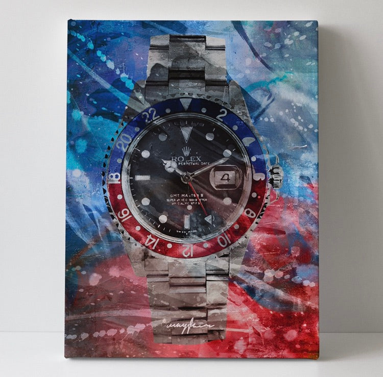 Tristan Rolex GMT 60cm x 80cm Canvas  x Mayfair