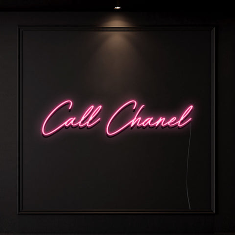 'Call Chanel' Neon Light