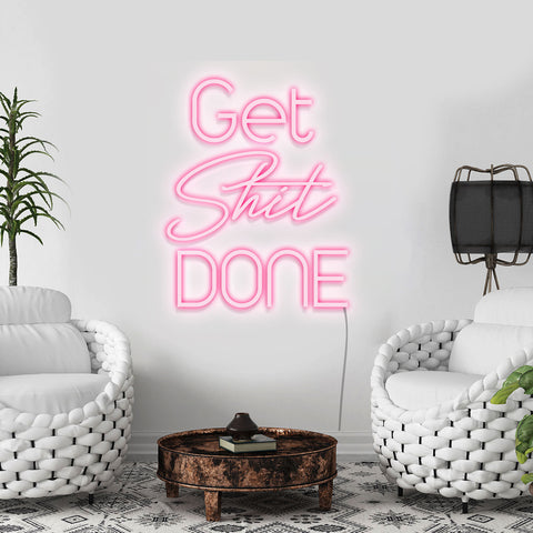 'Get Shit Done' Neon Light