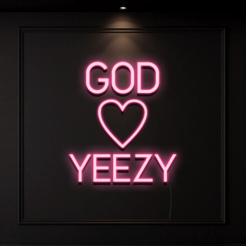 'God Love Yeezy' Neon Light