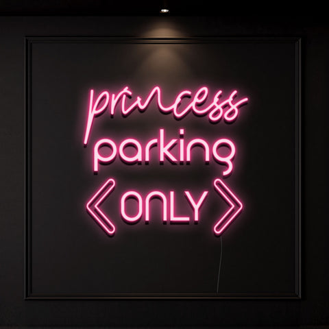 'Princess Parking Only' Neon Light