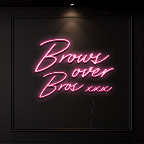 'Brows Over Bros' Neon Light