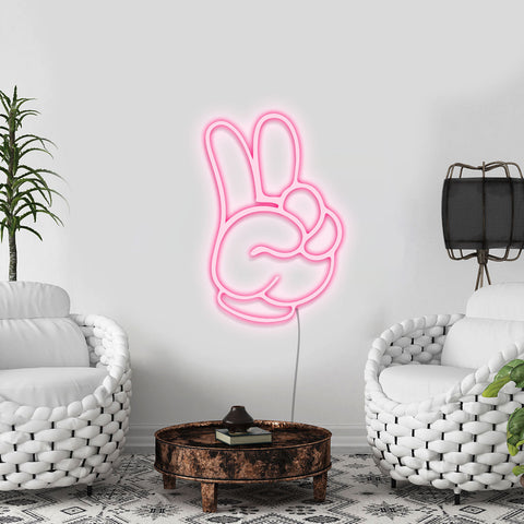 'Mickey Peace Out' Neon Light