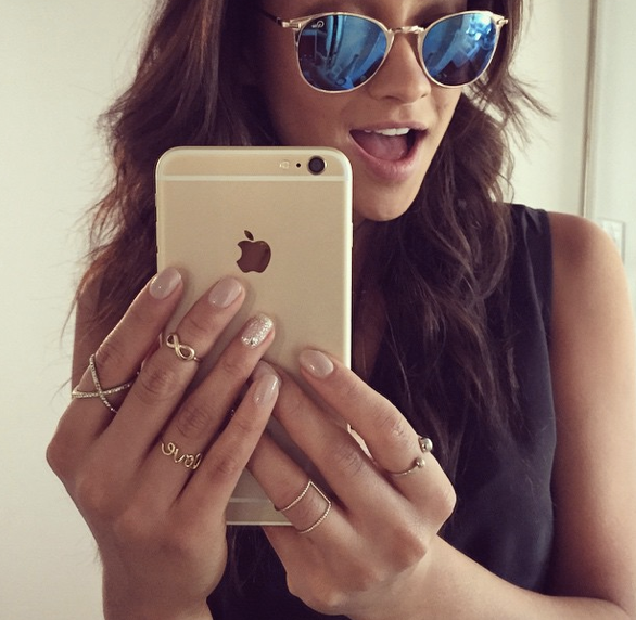 Shay Mitchell in Bailey Blue