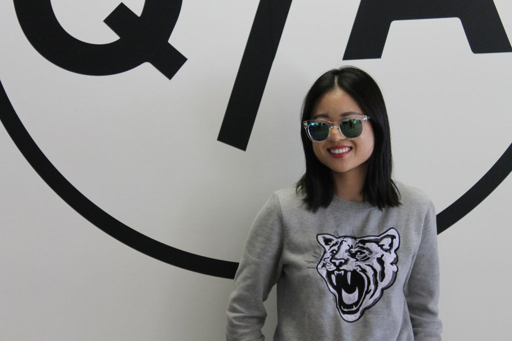 Natalie Liao of lavagabonddame wearing Quay