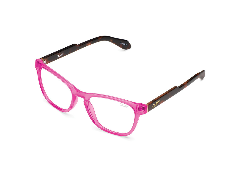 NEON PINK TORTOISE TEMPLE/ CLEAR