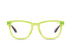 HARDWIRE - NEON YELLOW TORTOISE TEMPLE/CLEAR