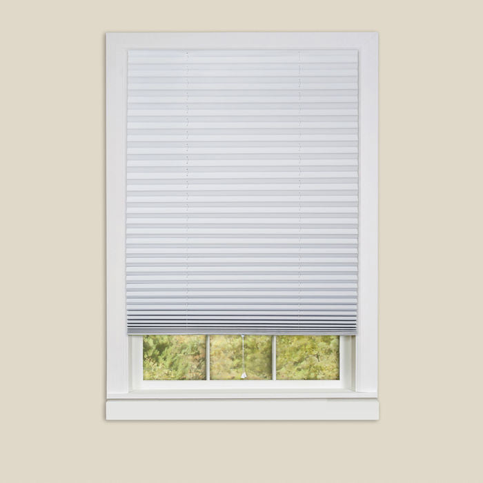 1-2-3 Vinyl Room Darkening Temporary Pleated Shades