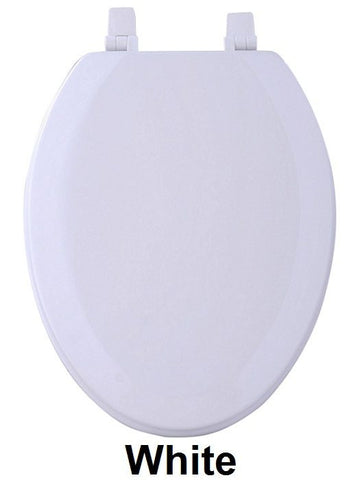 TOILET SEAT EL WOOD WHITE  PK4