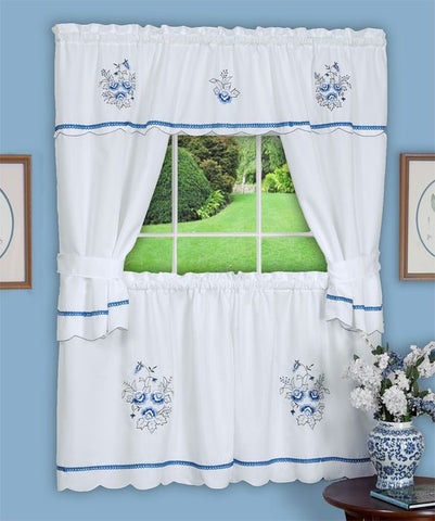 DELFT COTTAGESET58X24 BLUE P12
