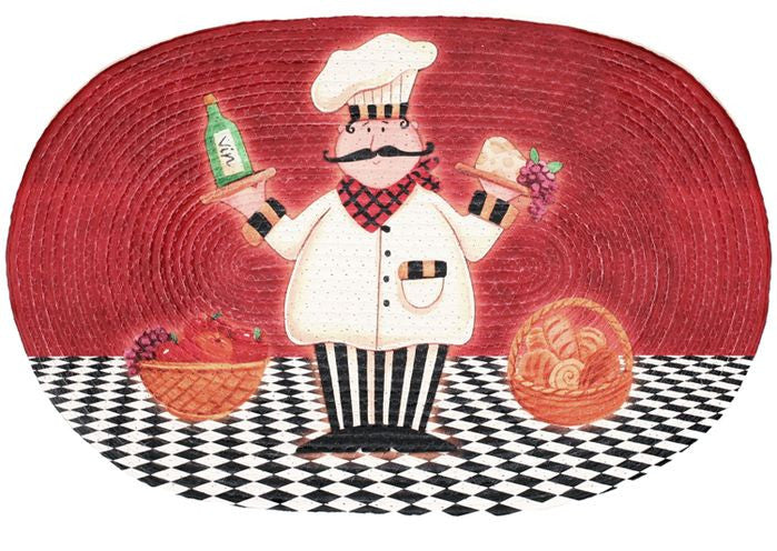 BRAIDED RUG CHEF           PK6