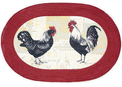 BRAIDED RUG ROOSTER        PK6