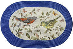 BRAIDED RUG LOVE BIRDS     PK6