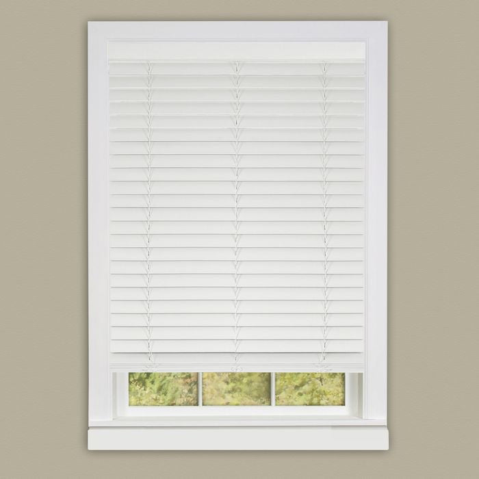 "Cordless Madera Falsa 2"" Faux Wood Plantation Blind"