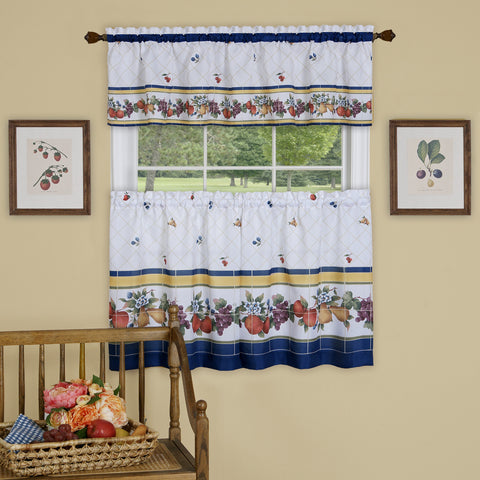 Fruity Tiles Printed Tier and Valance Set