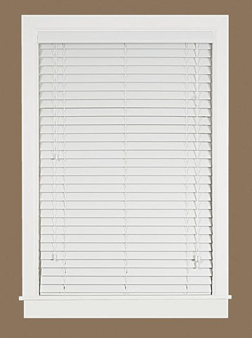 "Madera Falsa 2"" Faux Wood Plantation Blind"