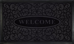 WELCOMEMAT SWIRL 18X30 BLK P12
